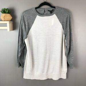 NWT J. Crew gray and white sweater size XL